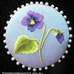 Thread Painting of Viola