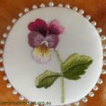 Thread Painting Pansy Pinwheel