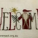 Welcome Santa X stitch