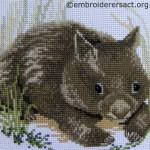 Wombat cross stitch by Irene Burton