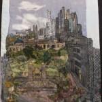 Textile cityscape