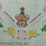 Detail of Coronation Tray Cloth