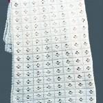 crocheted baby rug