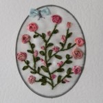 Card with Silk Ribbon Embroidery