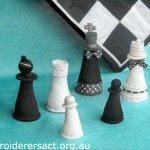 Stitched Chess Pieces