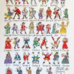 Kings & Queens of England x-stitch
