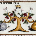 embroidered tray cover