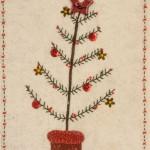 Detail of Christmas Tree stitchery