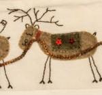 Detail of sleigh & reindeer applique