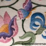 Crewel embroidery stool