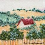 Embroidered landscape