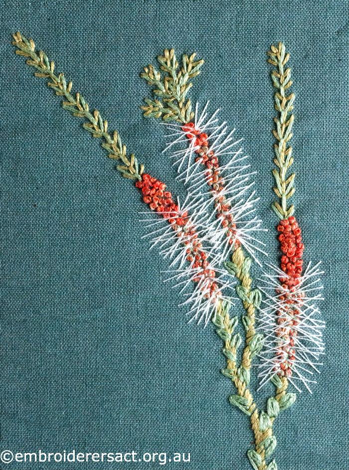 Stitched wildflowers