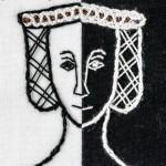 Detail of Lady Burton - embroidery