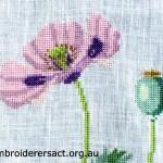 Cross stitch poppy