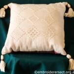 Drawn Threadwork Cushion