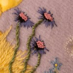 Detail of stitched Flowers 2