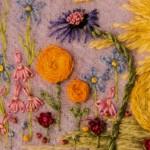 Flower Detail around embroidered Duckling