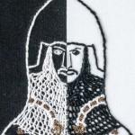 Head of Sir Thomas Burton - embroidery