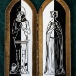 Embroidered Diptych of Sir Thomas & Lady Burton