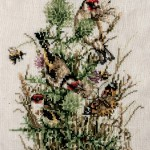 Cross Stitch of Goldfinches