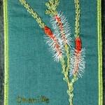 Stitched wildflower