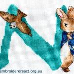 Peter Rabbit Alphabet Cross Stitch