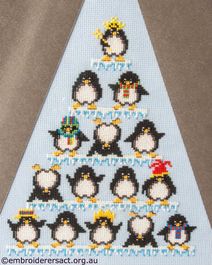Penguin Triangle Cross Stitch