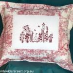 Redwork Cushion
