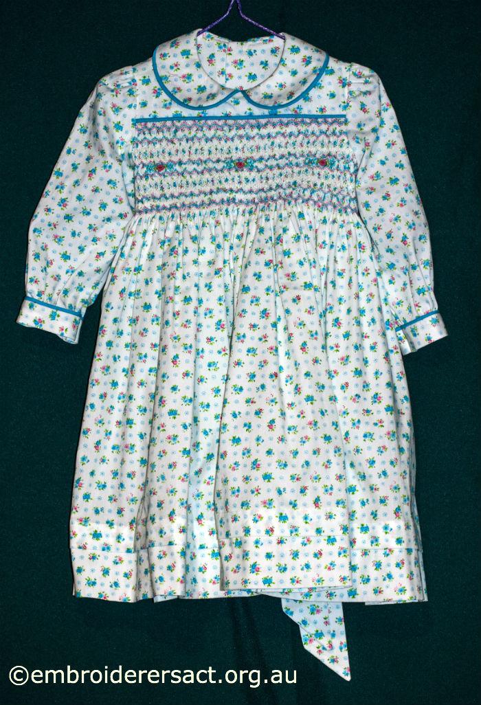 Smocked Turquoise Dress
