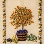 The Cumquat Tree stitchery