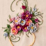 Vase of Flowers in Brazilian Embroidery