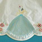 Detail of Girl on Vintage Semco Apron