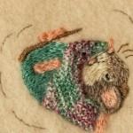Cute Mice on Wool Blanket 2