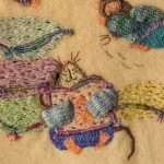 Cute Mice on Wool blanket