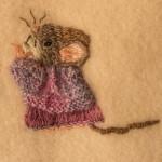 Cute Mice on Wool Blanket 6