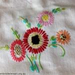 Flowers Detail in Vintage Semco Apron