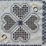 Blackwork & Hardanger Ring Cushion