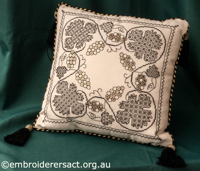 Blackwork Cushion