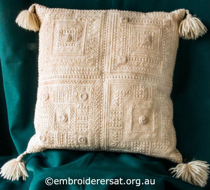Cream Aran Cushion