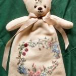 Embroidered Teddy Bear Pyjama Case