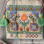 Embroidered Elizabethan Sweet Bag