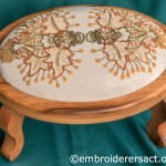 Crewel work stool