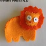 Lion Feltie in Progress