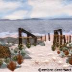 Embroidered Beach Scene