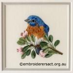 Threadpainting of Bluebird