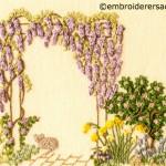 Diana Lampe floral garden
